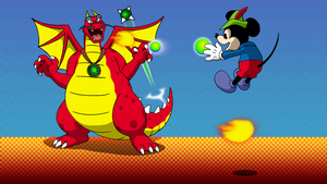 Commission - Mickey vs Dragon Merlock by BennytheBeast