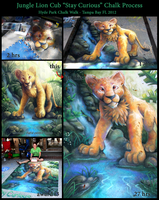 Chalk Art Jungle Lion Cub Process by charfade
