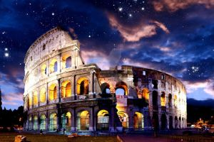 Colosseum at Sunset by sachiko2189