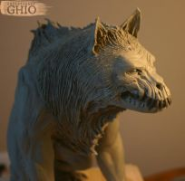 Werewolf Sculpture by piajartist