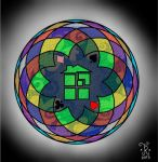 Stained glass Homestuck by jaderotaski
