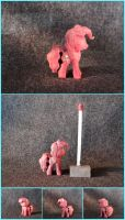 Pinkie Pie Woodwork Minifigure in Pink Ivory by xofox
