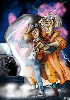 Great Scott! by ARTMONKEYMG