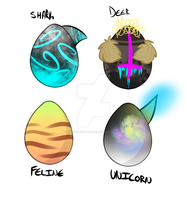 Mystery egg adopts: OPEN by Tiny-Forest-Prince