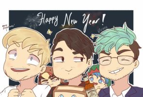Youtubers : Happy New Year! by pacaora