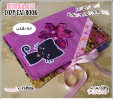 Cozy Cat Book - Pink Flowers by shiricki