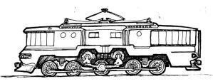 Retro Electric Locomotive by clearwater-art