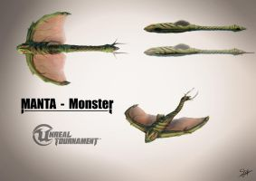 Unreal Tournament - Manta (Monster) Concept Art by Sly-Mk3