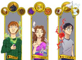 The Golden Trio by tricksterchild