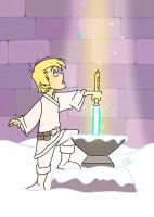 The Lightsabre in the Stone by DANGERcomics