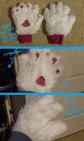Ice's Fursuit Hand Paws Almost Done by Ice-Artz