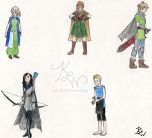 AWO Characters as Fantasy Characters by BronzetheSling
