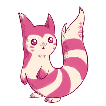 Shiny Furret by araiden