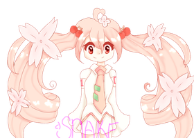 . : Sakura Miku Fanart : . by snakeeatingbacon