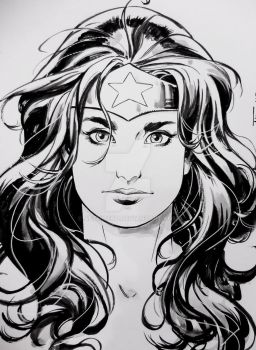Wonder Woman-Wonder Con sketch 2017 by aethibert