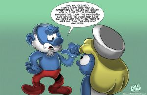 The One Who Smurfs by geogant