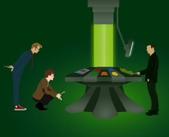 Three Doctors and a TARDIS by jonizaak