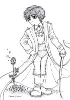 The Little Prince -lineart by Tatmione