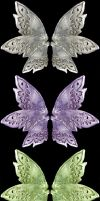 3 Sets of Pewter Faery Wings 2 by FantasyStock