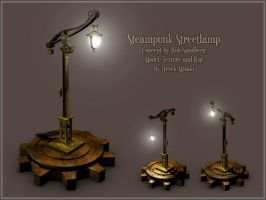 Steampunk Streetlamp Model by Maxidius