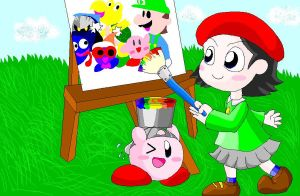 that talented little artist by Rotommowtom