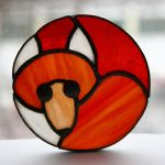 Stained Glass Fox Badge by Morinoska