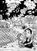 gaza cildren cry buterfly by fadil
