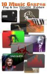Music Genres Icons by evolution99