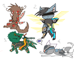 Free Adoptables Cybercat part1 (closed) by ChibiKitty14