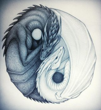 Yin and Yang Dragons by taylovestwilight