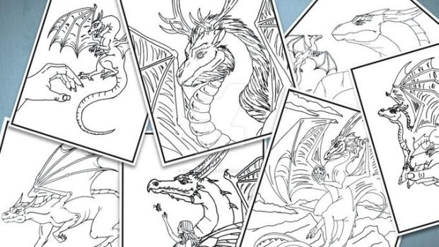 Coloring Book Pages by The-GoblinQueen