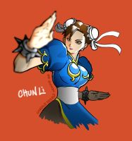Chun Li fight by chaloestevez