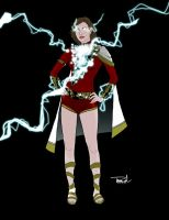Mary Marvel Redesign by tsbranch