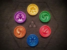 Sage Medallions 3D Printed by magicwaffles123