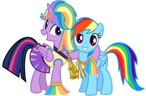 Twilight And Rainbow Dash By : Twilipony by twilipony