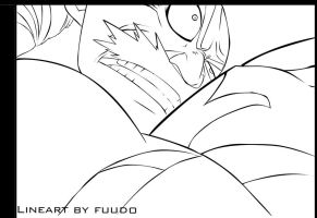 Lineart : acnologia's attack by fuudo