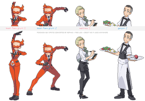 Pokemon XY trainer sprites ( VIII ) by Nephae