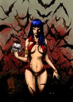 Vampirella by g0bl1n colors by The-Great-Shiniku