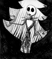 Jack Skellington And The Door by InkyDinkyWho