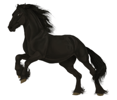 Friesian by FoxileEquine