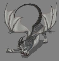 Silvery manticore_Female by Anisis