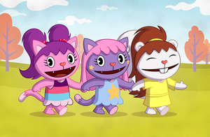 Happy Tree Fans nostalgia: Candie and friends by Culu-Bluebeaver