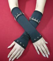 Black Steampunk Armwarmers by Estylissimo