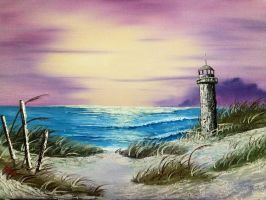 Seascape with Lighthouse by SharonQin