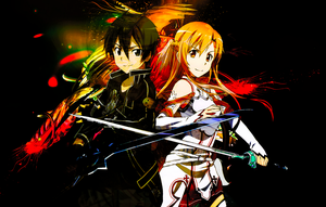 Sword art online - Kirito - Asuna by malta700