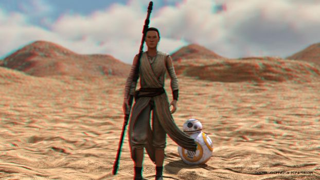Where do you come from? (Anaglyph 3D) by ArtFunart4fun