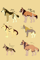 Wolf Adoptables  Name Your Price (Open) by Whitelupine