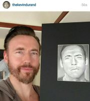 Kevin Durand with my Drawing by Doctor-Pencil