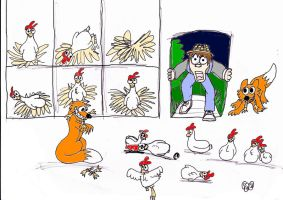 Chickens With no Feet by icewormie