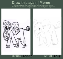 Meme: Fakemon redraw 2 by CrimsonVampiress